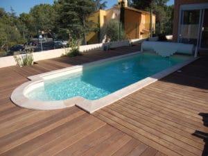 Terrasse piscine bois brico bois